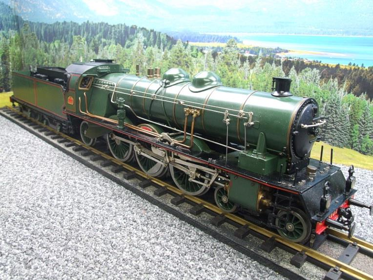 Gauge 1 Aster Green French PLM 231A Pacific 4-6-2 Loco & Tender R/N 6101 Live Steam Boxed image 17