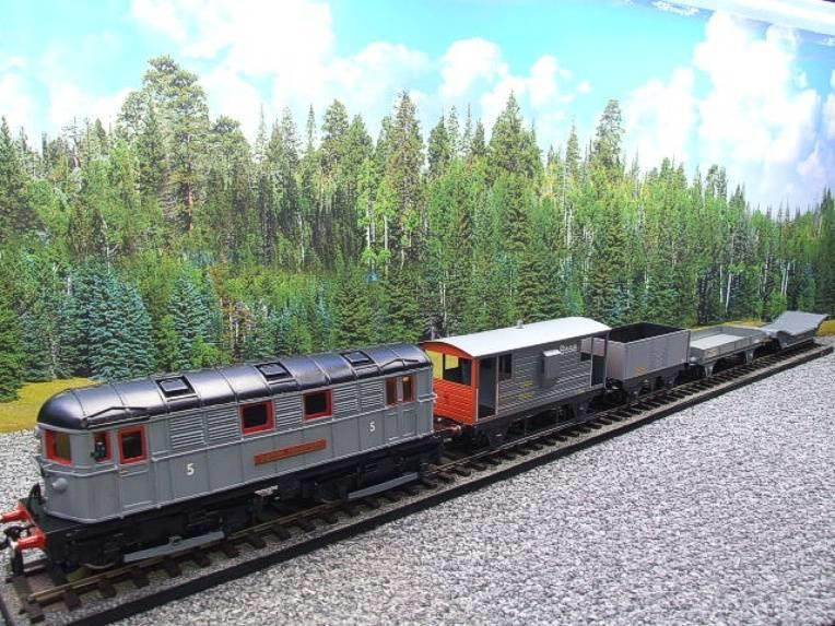 Raylo O Gauge RE11 Metro Vickers Bo-Bo Locotive London Transport Goods Set Electric 3 Rail Boxed image 15