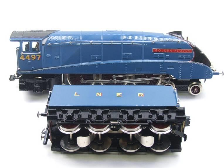 "Ace Trains O Gauge E4 A4 Pacific LNER Blue ""Golden Plover"" R/N 4497 Electric 3 Rail Boxed image 14"