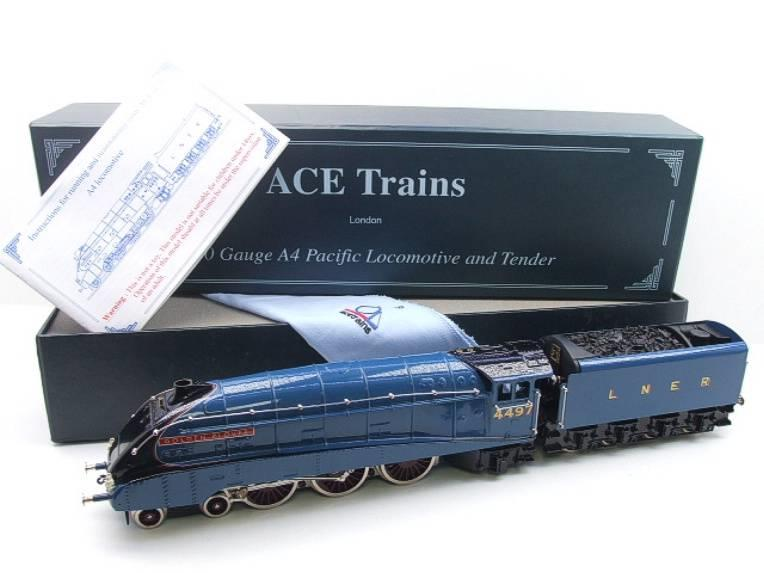 "Ace Trains O Gauge E4 A4 Pacific LNER Blue ""Golden Plover"" R/N 4497 Electric 3 Rail Boxed image 22"
