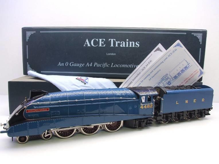 "Ace Trains O Gauge E4 LNER A4 Pacific ""Golden Eagle"" R/N 4482 Electric 3 Rail Boxed image 22"