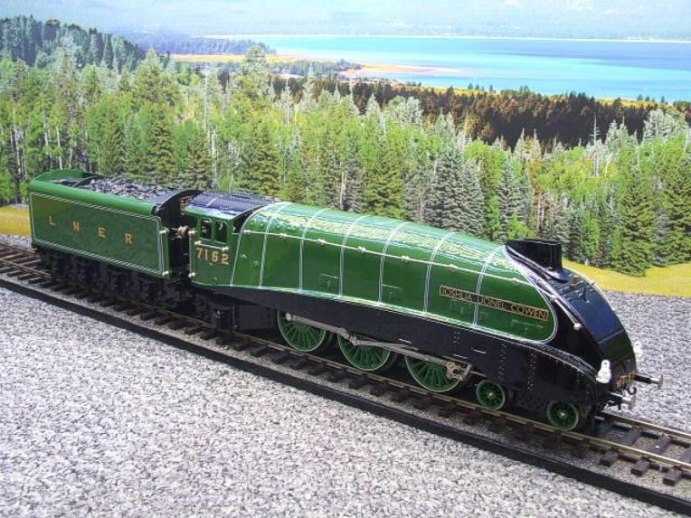 "Ace Trains O Gauge E4 A4 Pacific LNER Green ""Joshua Lionel Cowen"" R/N 7152 Electric 3 Rail Boxed image 16"