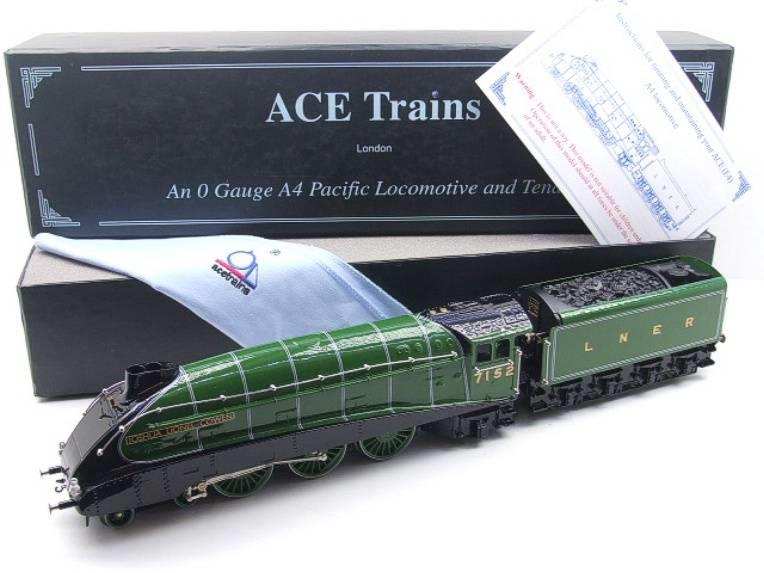 "Ace Trains O Gauge E4 A4 Pacific LNER Green ""Joshua Lionel Cowen"" R/N 7152 Electric 3 Rail Boxed image 20"