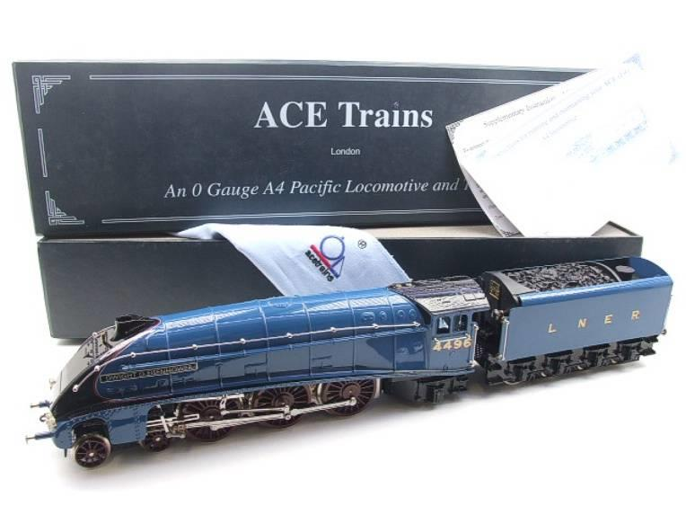 "Ace Trains O Gauge E4 A4 Pacific LNER Blue ""Dwight D Eisenhower"" R/N 4496 Elec 3 Rail Boxed image 22"