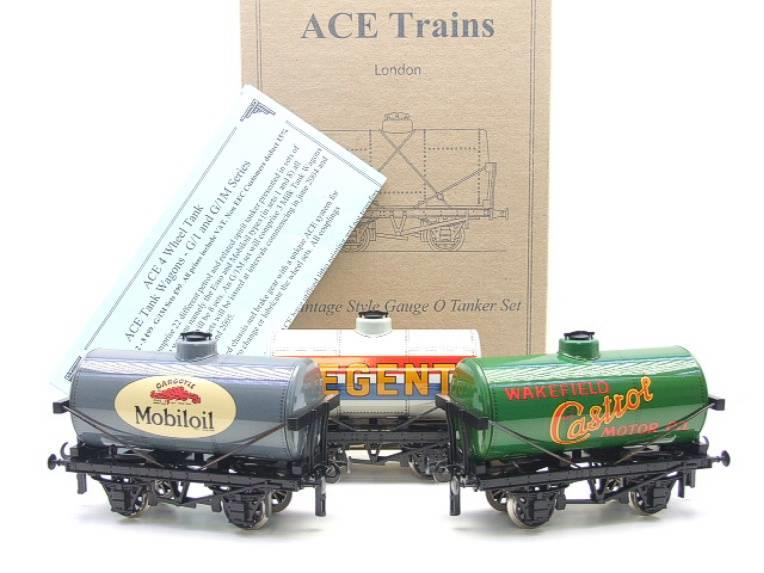 Ace Trains O Gauge G1 Four Wheel Mixed Fuel Tankers x3 Set image 15