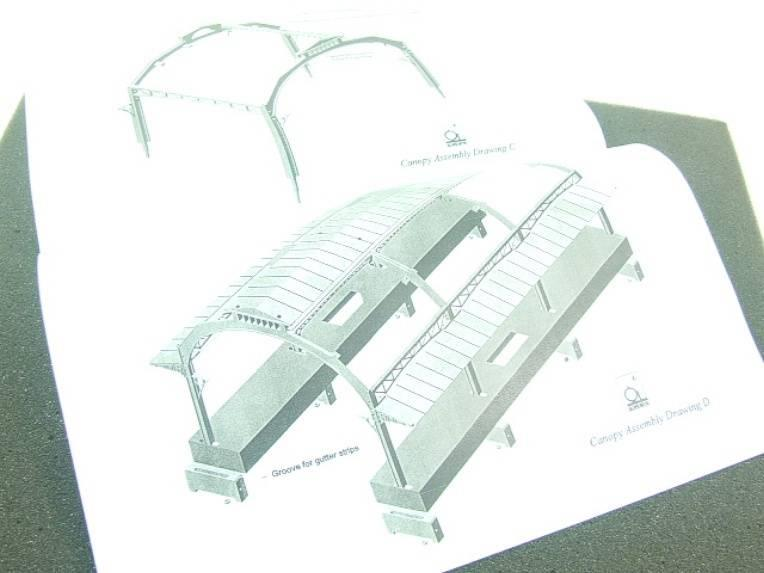 Ace Trains O Gauge Constructor Series Station Canopy Kit image 12