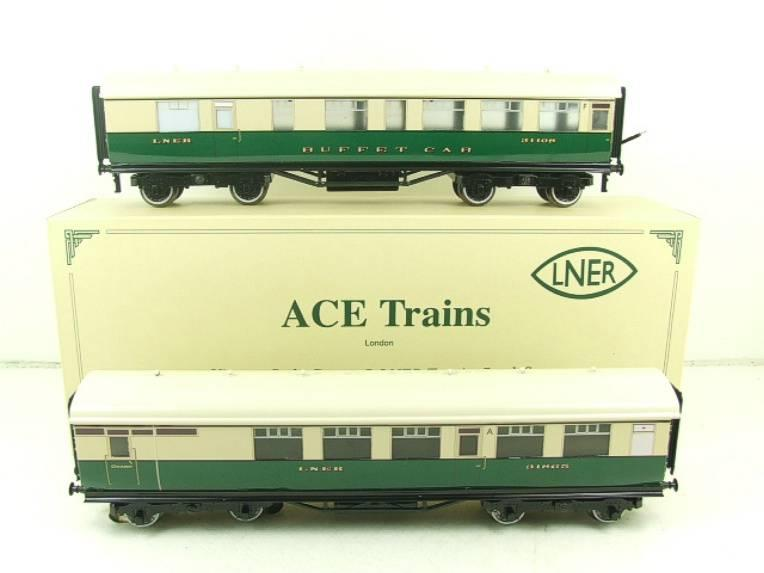 Ace Trains O Gauge LNER Gresley Tourist Coaches x2 Set 3 Rail Boxed image 20