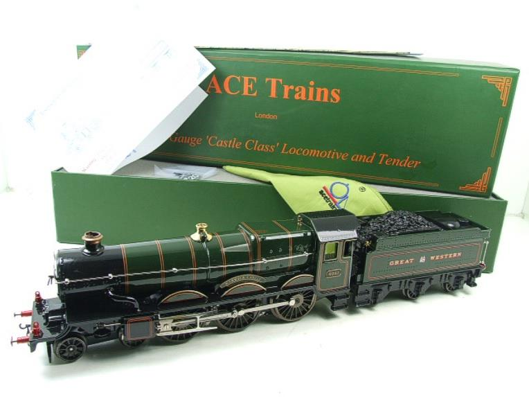 "Ace Trains O Gauge E7 GWR Castle Class ""Warwick Castle"" R/N 4081 Electric Boxed image 21"