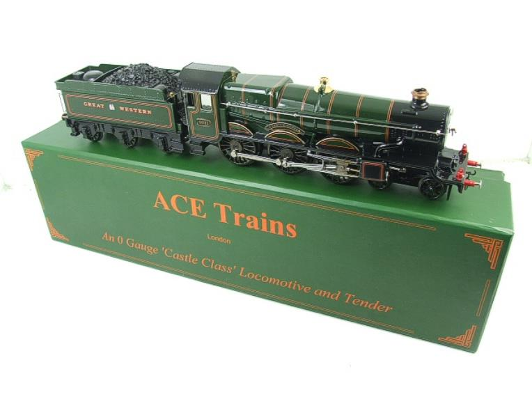 "Ace Trains O Gauge E7 GWR Castle Class ""Warwick Castle"" R/N 4081 Electric Boxed image 22"