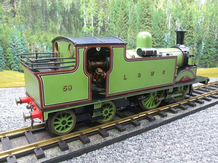 "Gauge 1 LSWR Green ""M7"" Class 0-4-4 Tank Loco R/N 59 Spirit Fired Live Steam image 11"