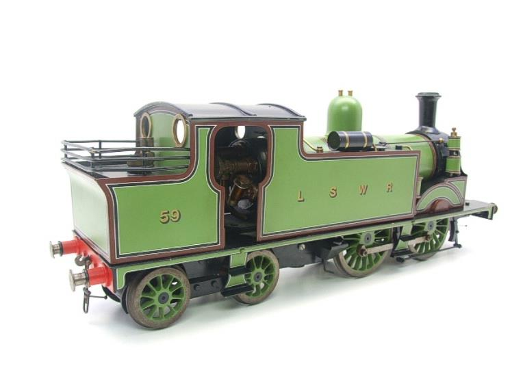 "Gauge 1 LSWR Green ""M7"" Class 0-4-4 Tank Loco R/N 59 Spirit Fired Live Steam image 17"