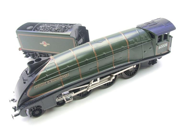 "Seven Mills O Gauge BR Green A4 Pacific ""Dwight D Eisenhower"" Loco & Tender R/N 60008 Elec 2/3 Rail image 11"