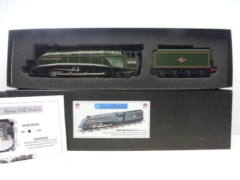 "Seven Mills O Gauge BR Green A4 Pacific ""Dwight D Eisenhower"" Loco & Tender R/N 60008 Elec 2/3 Rail image 18"