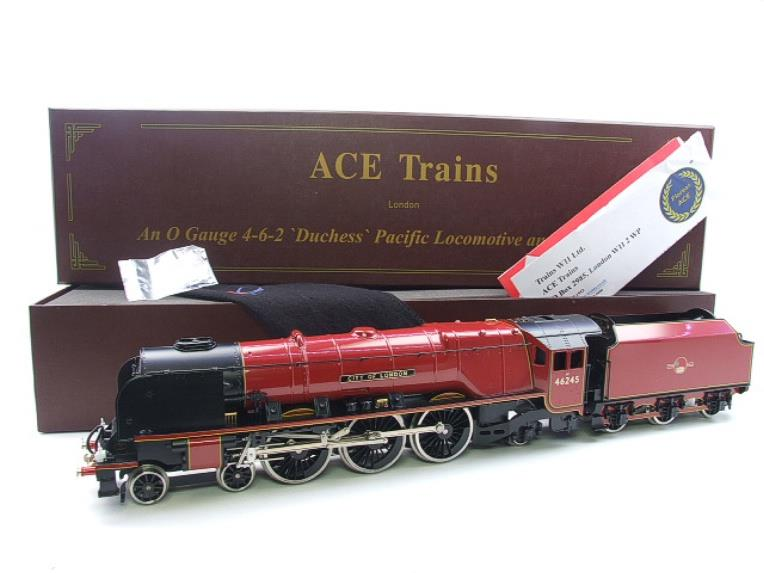"Ace Trains O Gauge E12 BR  Duchess Pacific ""City Of London"" RN 46245 Electric 2/3 Rail Bxd image 22"