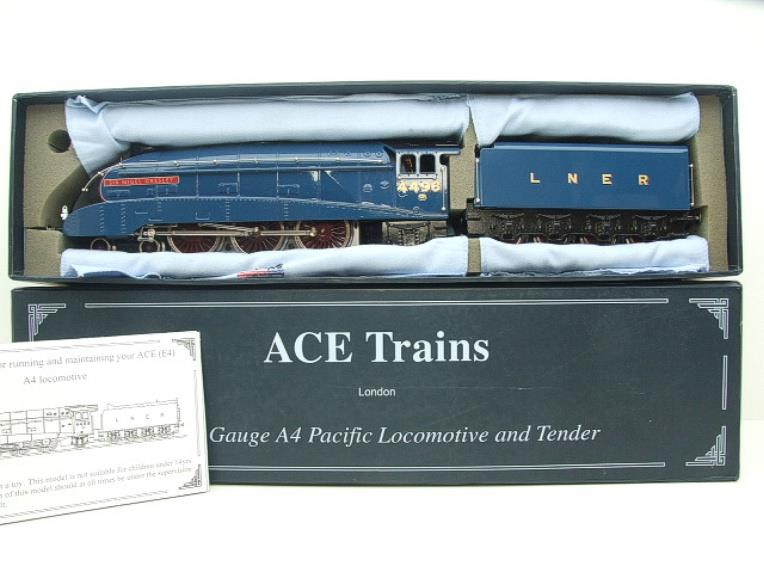 "Ace Trains O Gauge A4 Pacific LNER Blue ""Sir Nigel Gresley"" R/N 4498 Electric Boxed image 19"