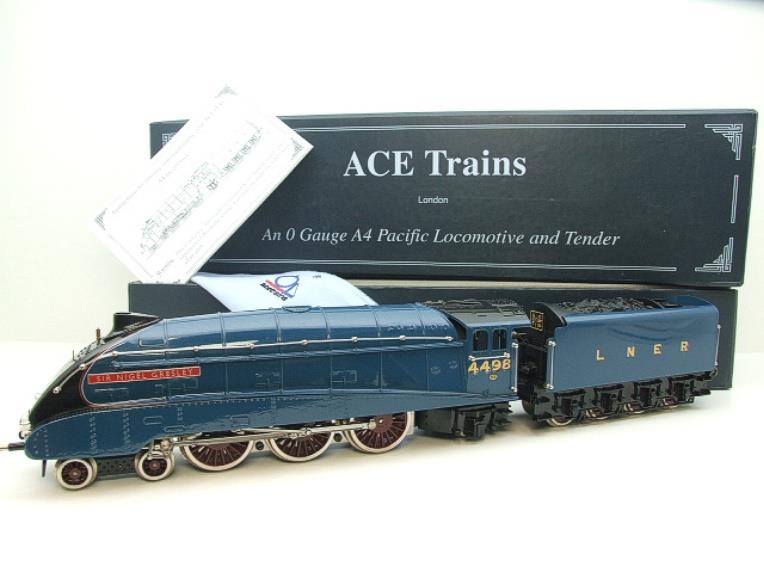 "Ace Trains O Gauge A4 Pacific LNER Blue ""Sir Nigel Gresley"" R/N 4498 Electric Boxed image 22"