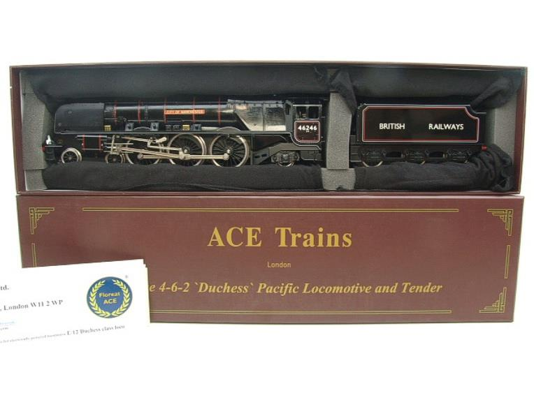 "Ace Trains O Gauge E12S BR Black Duchess Class ""City of Manchester"" R/N 46246 Electric 2/3 Rail Bxd image 16"