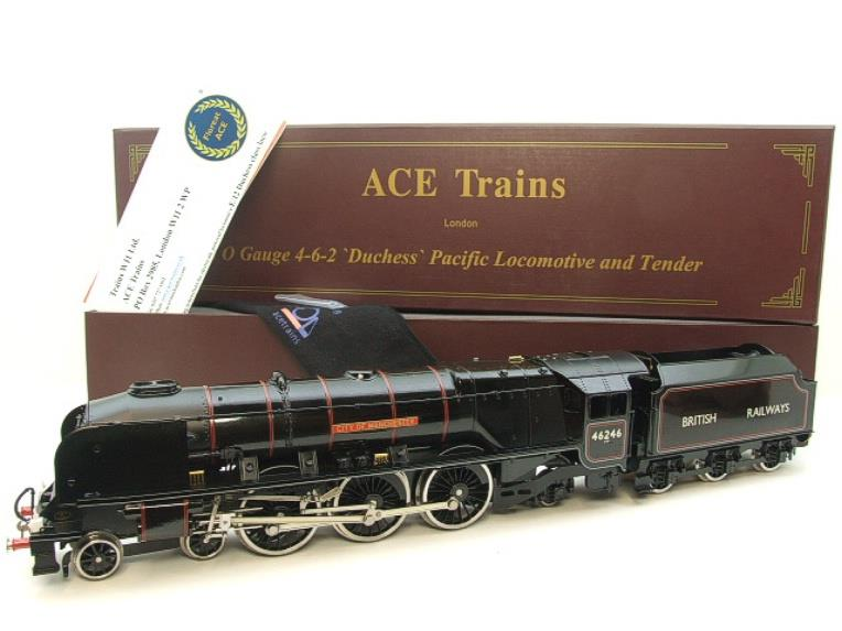 "Ace Trains O Gauge E12S BR Black Duchess Class ""City of Manchester"" R/N 46246 Electric 2/3 Rail Bxd image 20"