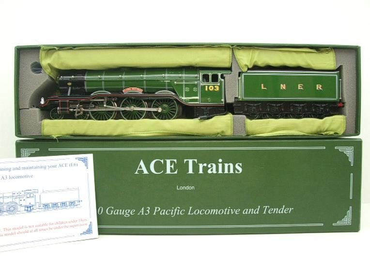 "Ace Trains O Gauge A3 Pacific Class LNER ""Flying Scotsman"" R/N 103 Special Edition Elec 3 Rail Bxd image 18"