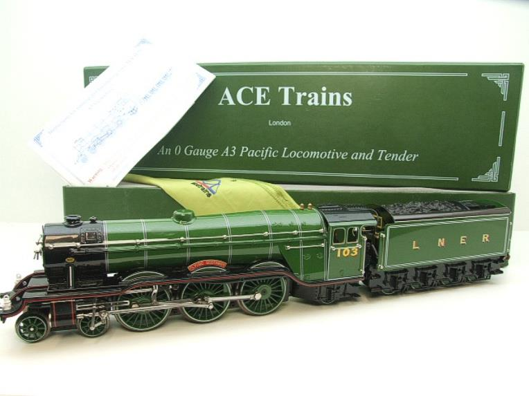 "Ace Trains O Gauge A3 Pacific Class LNER ""Flying Scotsman"" R/N 103 Special Edition Elec 3 Rail Bxd image 22"
