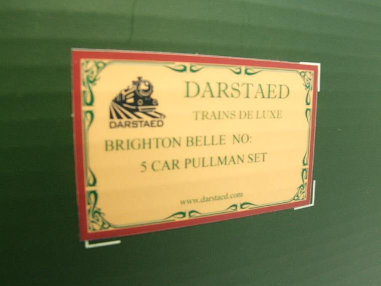 "Darstaed O Gauge ""Brighton Belle"" x6 Pullman Coaches Set Electric 3 Rail  Boxed image 16"