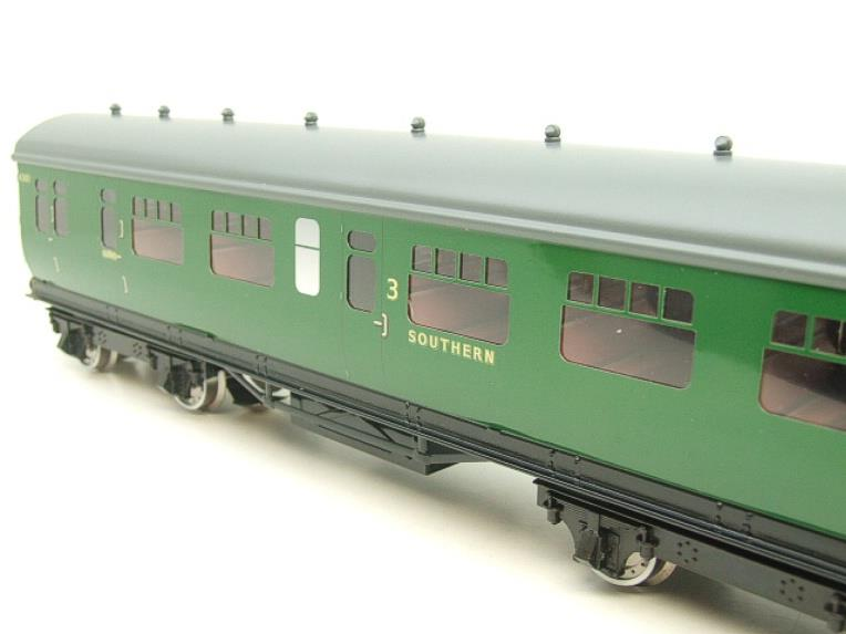 Darstaed O Gauge SR Green Bulleid Corridor Brake End Coach R/N 4301 Lit Interior image 12