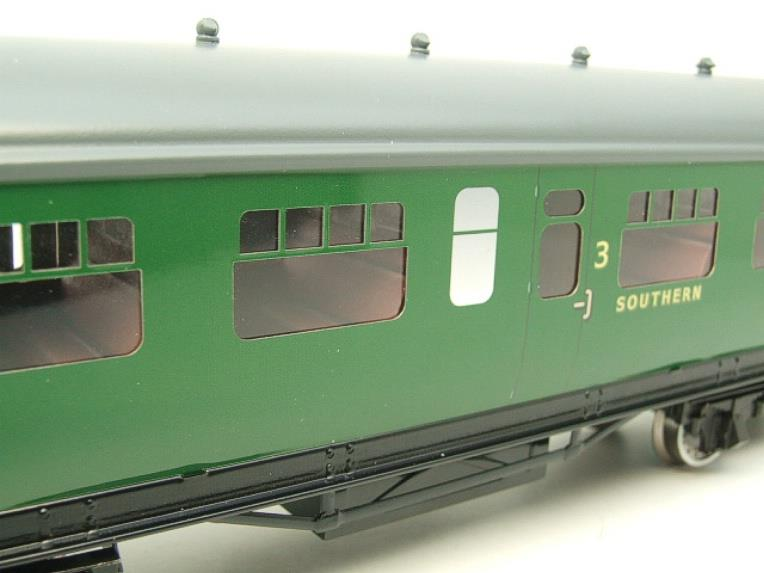 Darstaed O Gauge SR Green Bulleid Corridor Brake End Coach R/N 4301 Lit Interior image 13