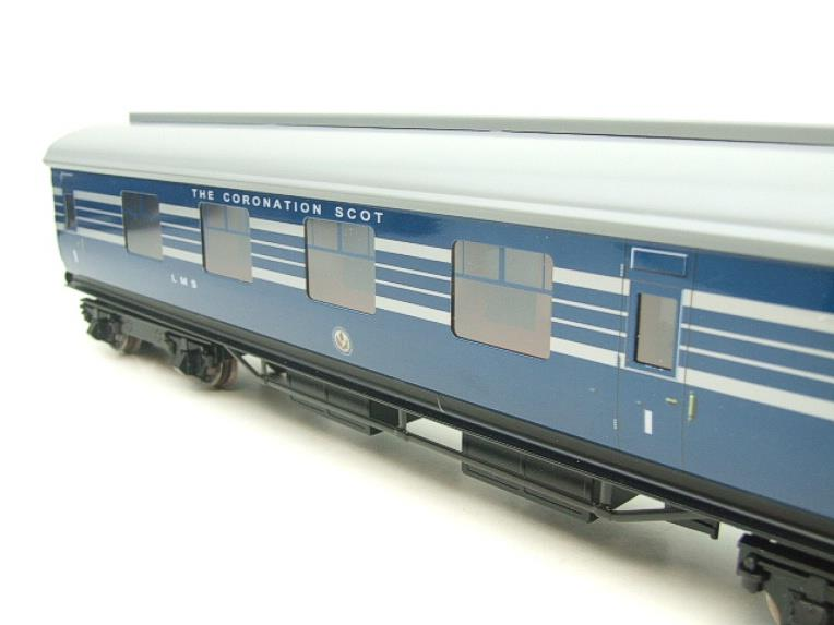 Ace Trains O Gauge C20-A LMS Blue Coronation Scot x3 Coaches 2/3 Rail Set A image 11