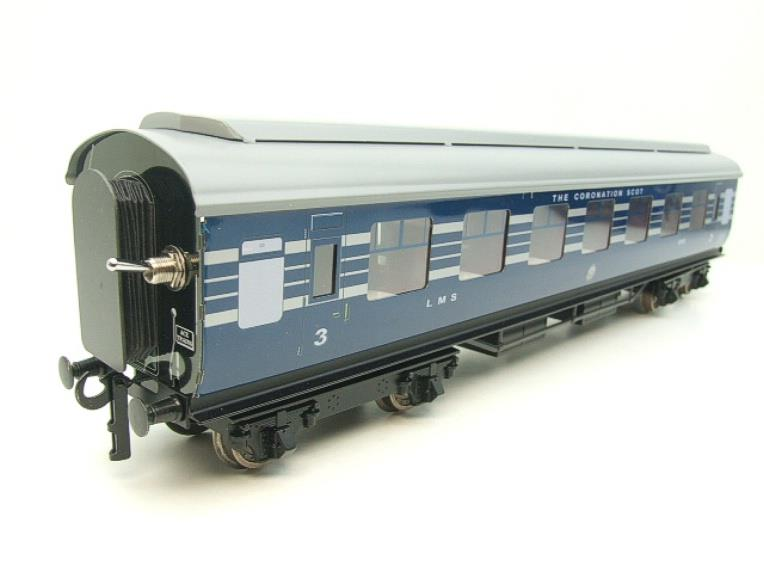 Ace Trains O Gauge C20-A LMS Blue Coronation Scot x3 Coaches 2/3 Rail Set A image 12