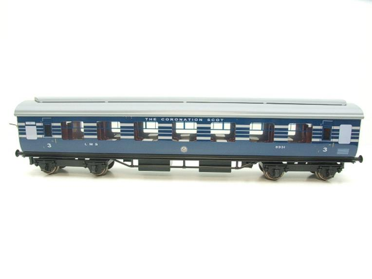 Ace Trains O Gauge C20-A LMS Blue Coronation Scot x3 Coaches 2/3 Rail Set A image 13