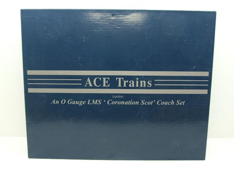 Ace Trains O Gauge C20-A LMS Blue Coronation Scot x3 Coaches 2/3 Rail Set A image 17