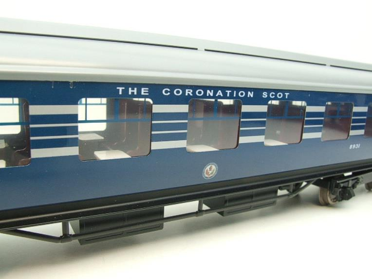 Ace Trains O Gauge C20-A LMS Blue Coronation Scot x3 Coaches 2/3 Rail Set A image 18