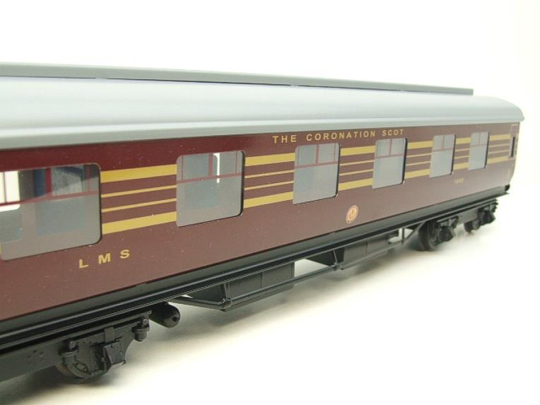Ace Trains O Gauge C28A LMS Maroon Coronation Scot Coaches x3 Set A Bxd 2/3 Rail Int Lit image 11