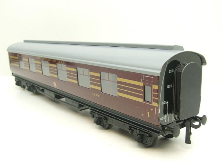 Ace Trains O Gauge C28A LMS Maroon Coronation Scot Coaches x3 Set A Bxd 2/3 Rail Int Lit image 12