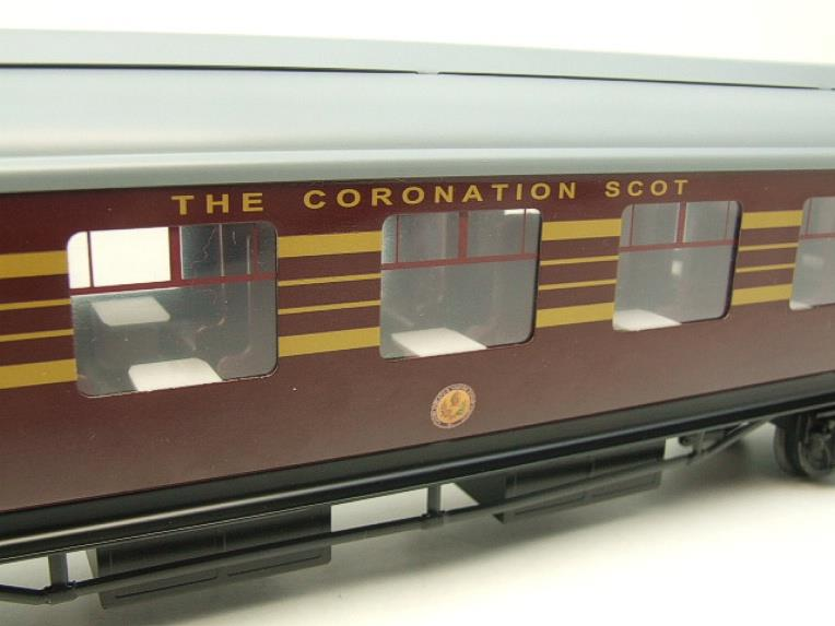 Ace Trains O Gauge C28A LMS Maroon Coronation Scot Coaches x3 Set A Bxd 2/3 Rail Int Lit image 13