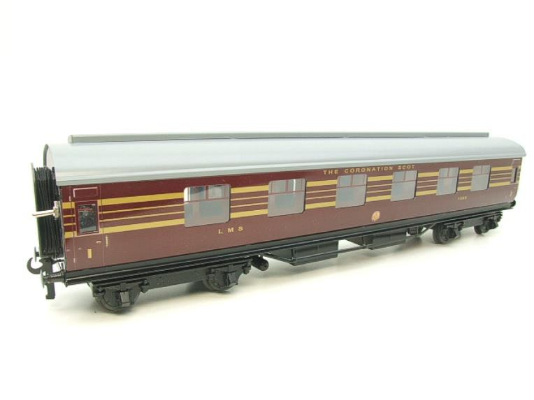 Ace Trains O Gauge C28A LMS Maroon Coronation Scot Coaches x3 Set A Bxd 2/3 Rail Int Lit image 19