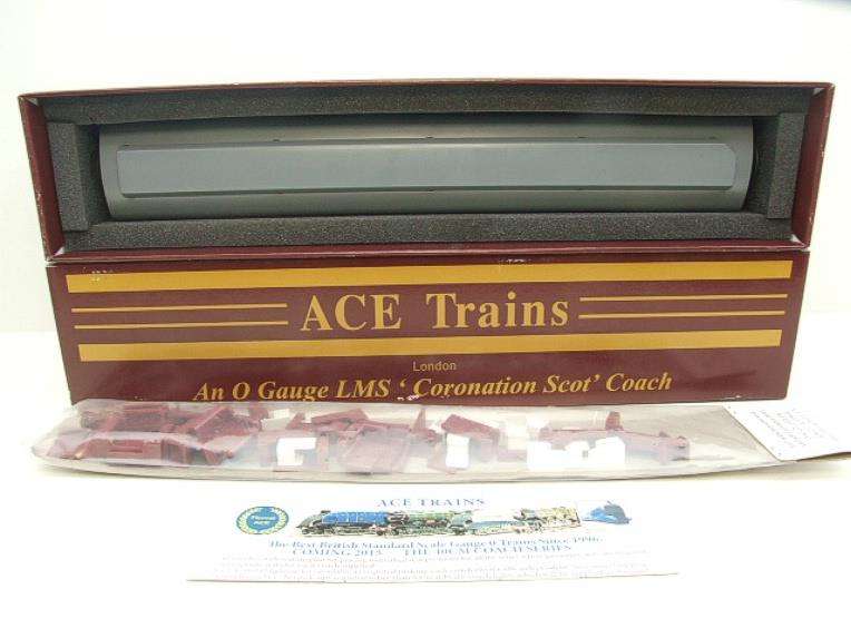 "Ace Trains O Gauge C20-03 LMS Maroon ""Coronation Scot"" Open 3rd Coach R/N 8996 Int Lit Boxed image 11"