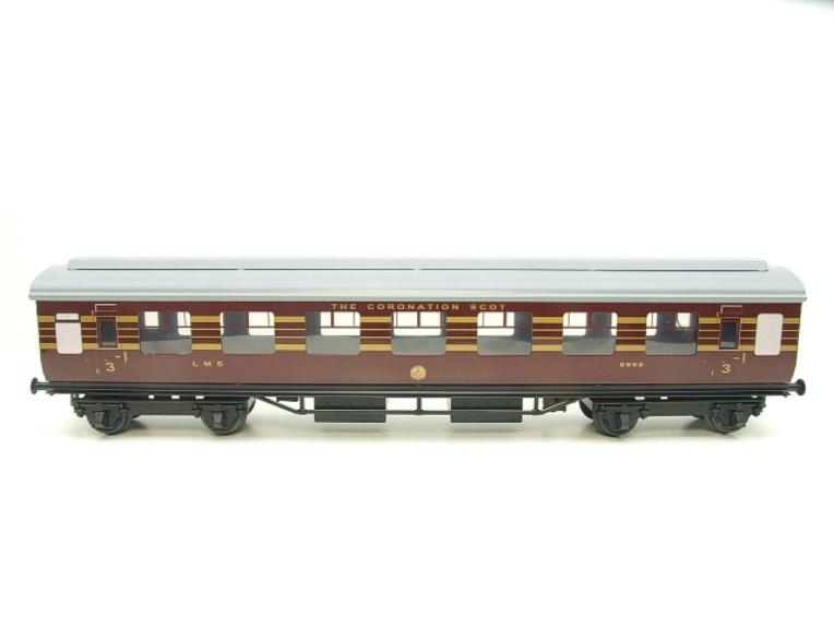 "Ace Trains O Gauge C20-03 LMS Maroon ""Coronation Scot"" Open 3rd Coach R/N 8996 Int Lit Boxed image 14"