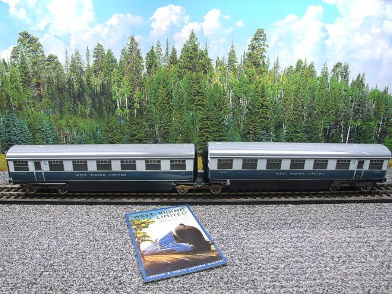 "Ace Trains O Gauge C9 LNER ""West Riding Limited"" Articulated x6 Coaches As NEW Boxed image 11"