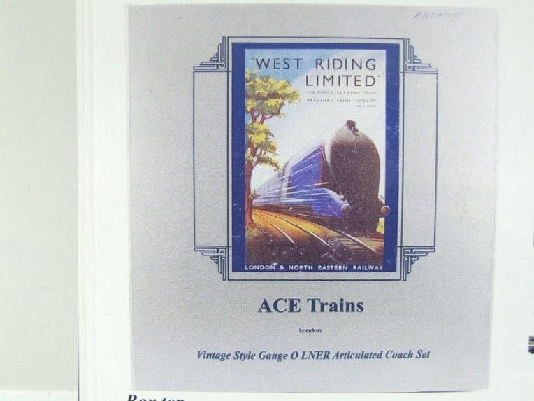 "Ace Trains O Gauge C9 LNER ""West Riding Limited"" Articulated x6 Coaches As NEW Boxed image 20"