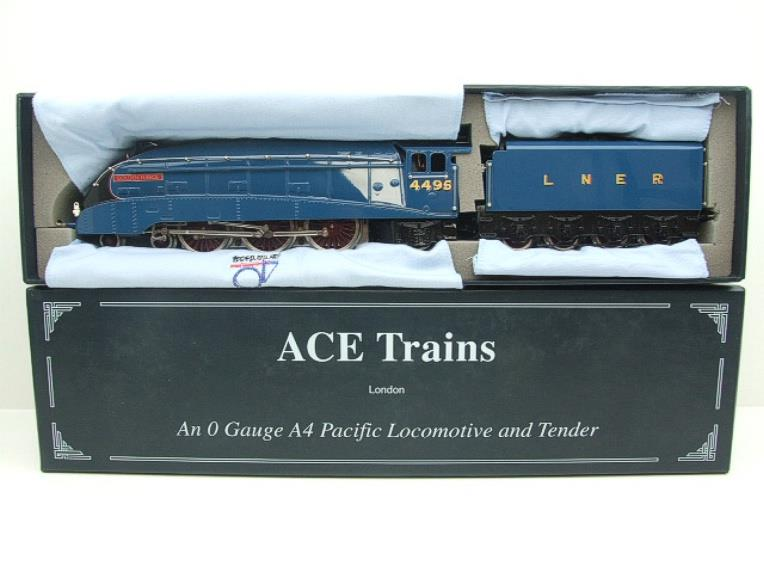 "Ace Trains O Gauge E4 A4 Pacific LNER Blue ""Golden Fleece"" R/N 4495 Electric 3 Rail Boxed image 17"