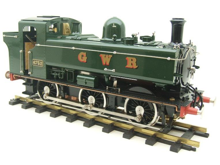 Gauge 1 Aster GWR Green Class 5700 Pannier Tank Loco R/N 6752 Live Steam Boxed image 11