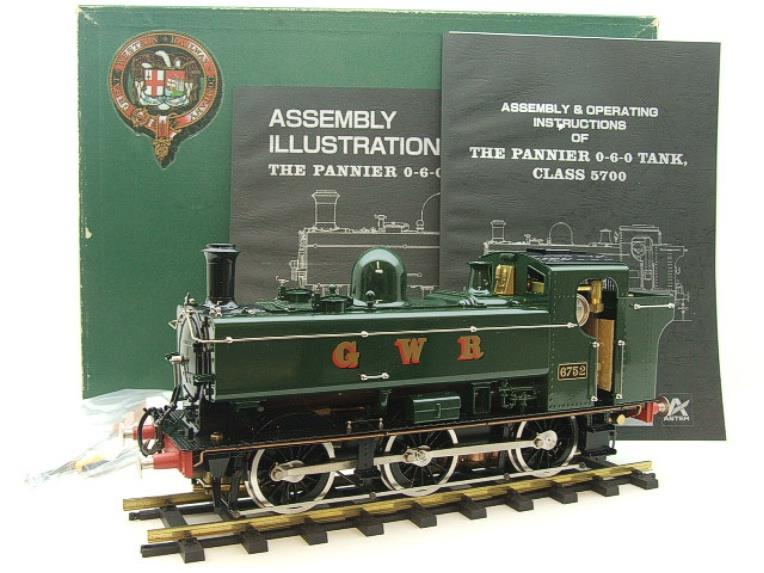Gauge 1 Aster GWR Green Class 5700 Pannier Tank Loco R/N 6752 Live Steam Boxed image 20