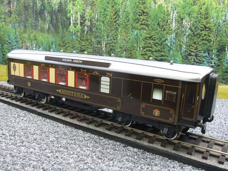 "Darstaed O Gauge Golden Arrow Parlour Brake 3rd ""Montana"" Grey Roof Pullman Coach 2/3 Rail Bxd image 11"