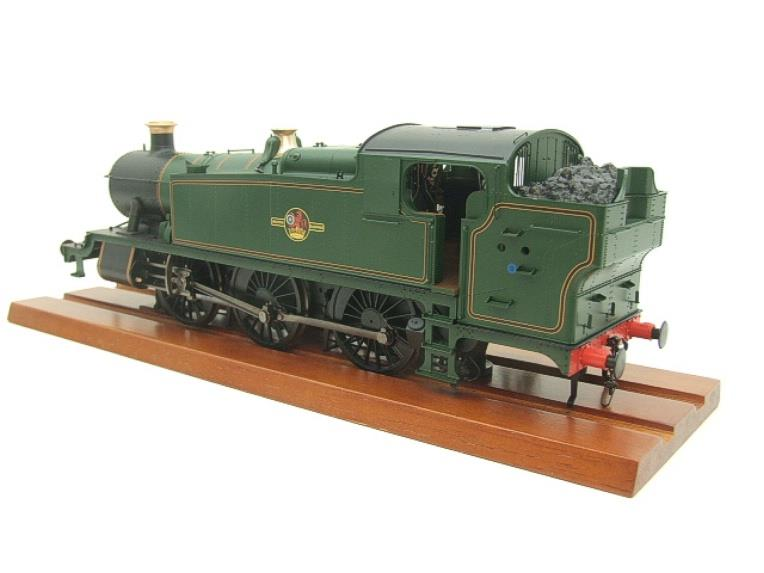 Heljan O Gauge Item 6123 BR Green Late Crest Class 61xx Large Prairie Tank Loco Un Numbered Electric image 11