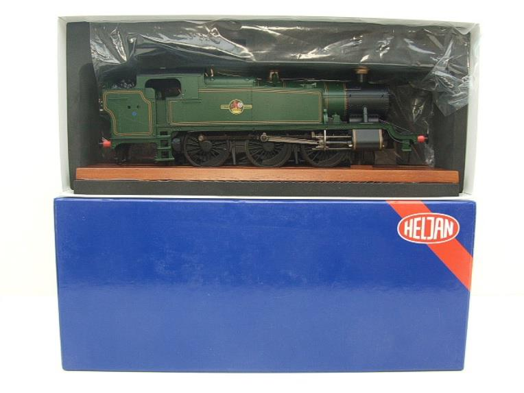 Heljan O Gauge Item 6123 BR Green Late Crest Class 61xx Large Prairie Tank Loco Un Numbered Electric image 14