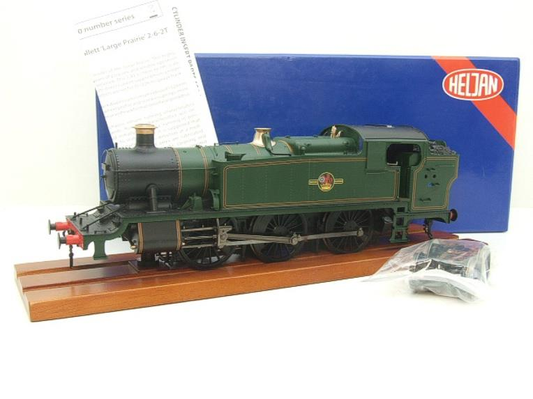 Heljan O Gauge Item 6123 BR Green Late Crest Class 61xx Large Prairie Tank Loco Un Numbered Electric image 20