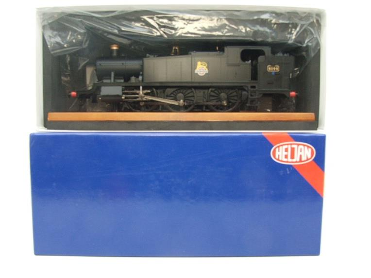Heljan O Gauge Item 6125 BR Green Early Crest Class 61xx Large Prairie Tank Loco R/N 4144 Electric image 13