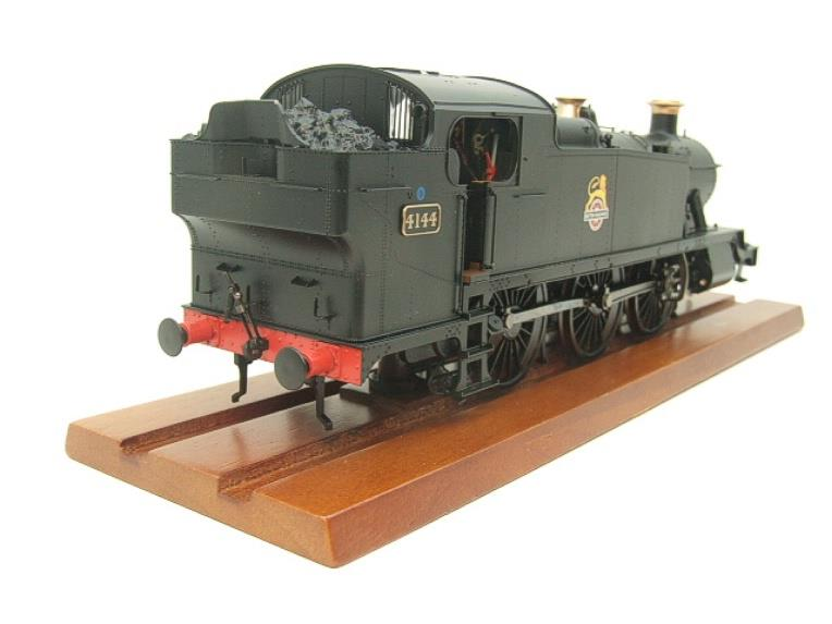 Heljan O Gauge Item 6125 BR Green Early Crest Class 61xx Large Prairie Tank Loco R/N 4144 Electric image 14