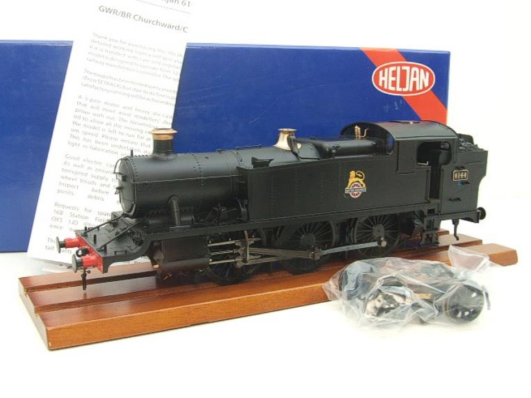 Heljan O Gauge Item 6125 BR Green Early Crest Class 61xx Large Prairie Tank Loco R/N 4144 Electric image 15